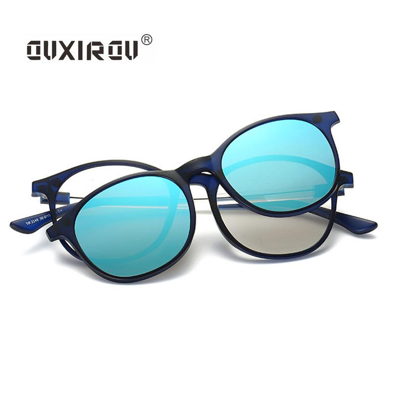 718d1dd350 2018 Fashion Eyeglasses Frames Men Women Sunglasses Polarized Magnetic  Glasses Male Driving Clip On Spectacle Tr90 Myopia S2245 From Shuidianba