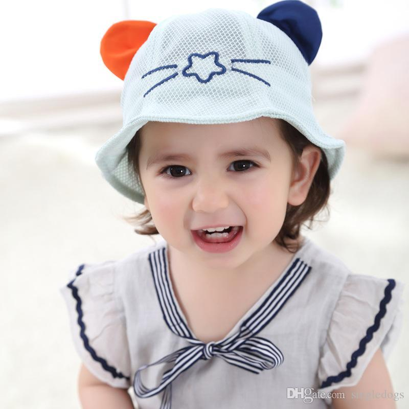 3f3de1bb4df 2019 Baby Hat Boy Girl Beanie Caps Fashion Bucket Toddler Hat Children Caps  Kids Boys Girls Sun Hat Kids Cap From Cuciwatch