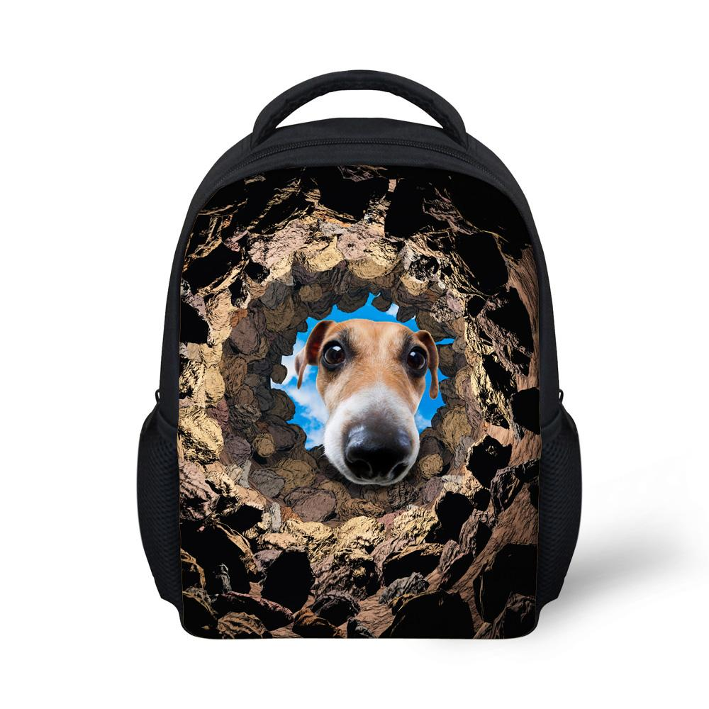 6c9b1caef09d Cool Animals School Bags for Boys Funny Dog Print Girls Schoolbag ...