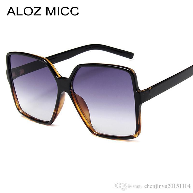 cb7d998f2e ALOZ MICC Vintage Oversize Square Sunglasses Women 2019 Fashion Men ...