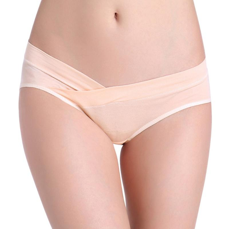 7ca1b271726 2019 Women S Underwear Cozy Cotton Maternity Panties Lingerie Plus Size U  Shaped Low Waist Briefs Underwear For Pregnant Women Y6 From Berniee
