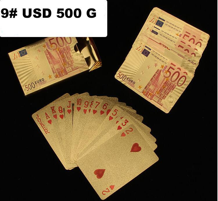 Durable Waterproof Plastic Playing Cards Gold Foil Poker Golden Poker Cards 24K Gold-Foil Plated Playing Cards Poker Table Games