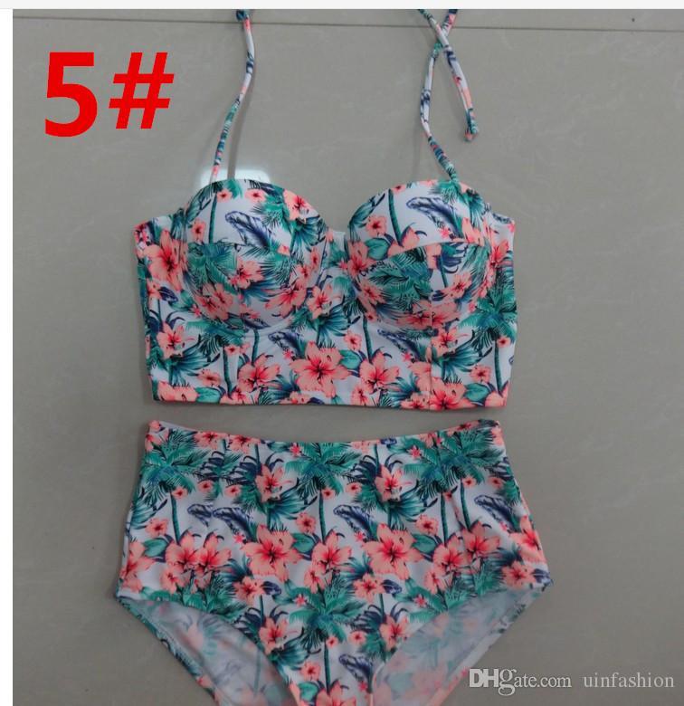 Seksi Bikini İki Adet Mayo Şınav Mayo Kadın Bodysuit Baskı Bandaj Plaj Kıyafeti Mayo Monokini Mayo Artı Boyutu