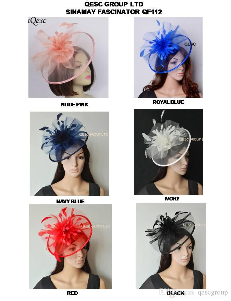 b688d48a2f06a New Arrival Design.Elegant Crin Sinamay Fascinator with Feather ...