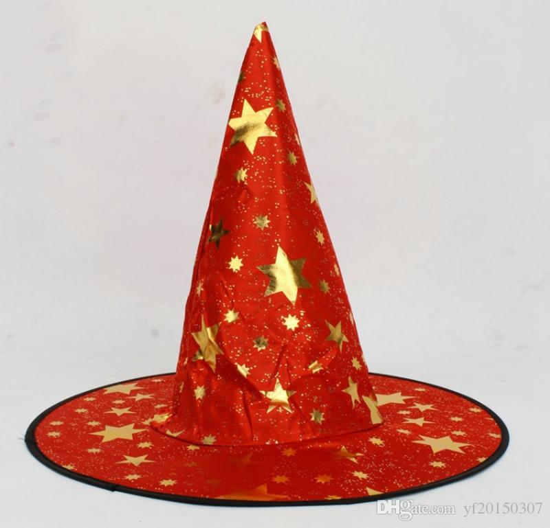4d2ae0c7536 Witch Hat Costume Accessory Hexagonal Stars Print Cap Performance Props Party  Supplies Halloween Accessories Wholesale Nautical Party Hats Nemo Party ...