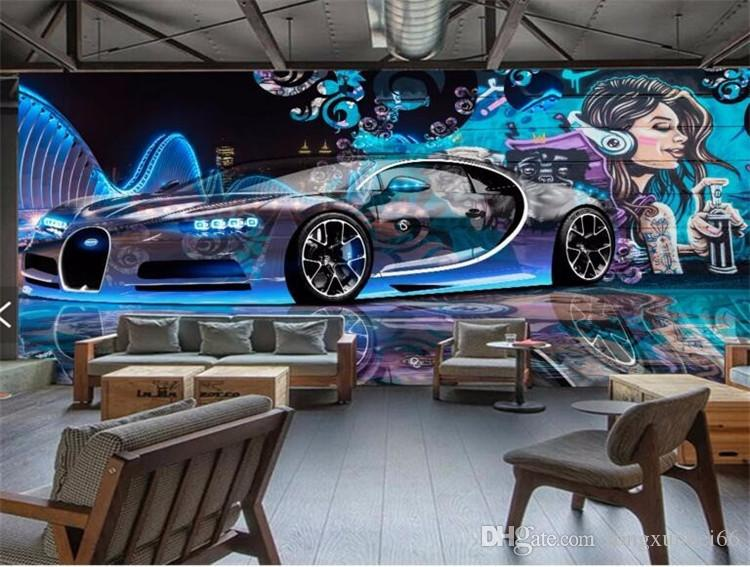 fondos de pantalla para paredes 3 d Street graffiti Custom TV decoración de automóviles deportivos sala fondo papel de pared papel de parede