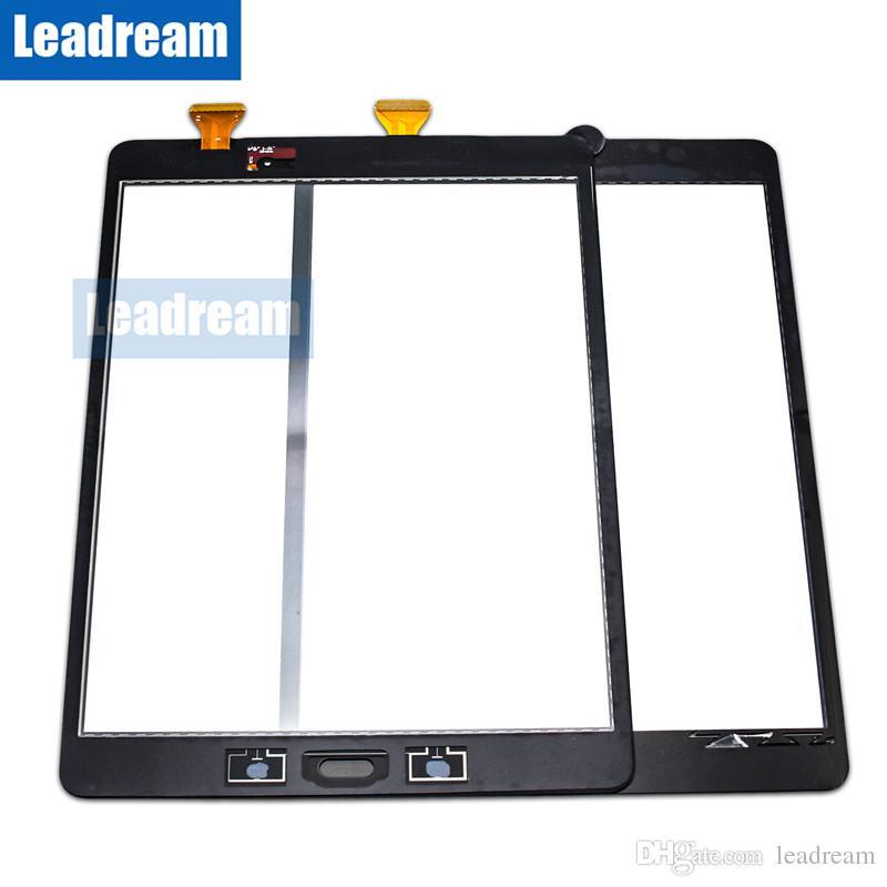 삼성 갤럭시 탭 9.7 T550 무료 DHL 용 테이프와 태블릿 PC 터치 스크린 디지타이저 유리 렌즈
