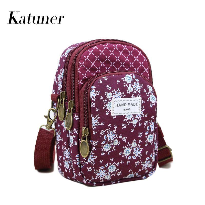 a0ed376bd9b2 Katuner New Girls Baobao Mini Crossbody Bags Women Multilayer Zipper Canvas Shoulder  Messenger Phone Bag Female Purse KB096 Shoulder Bags Cheap Shoulder ...
