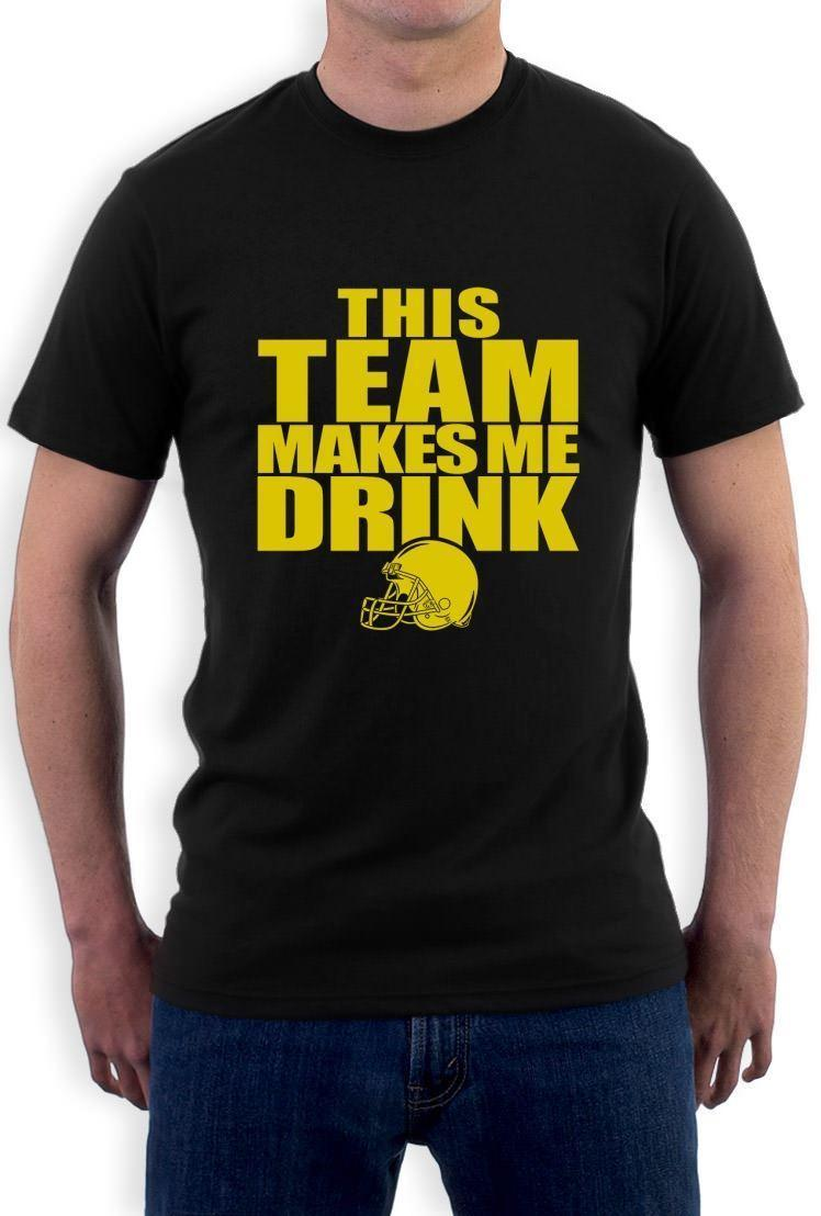d703f1b74 This Team Makes Me Drink Yellow T Shirt Funny Footballer Minnesota  Washington T Shirt O Neck Men Male Harajuku Top T Shirt With Online Shop T  Shirt From ...