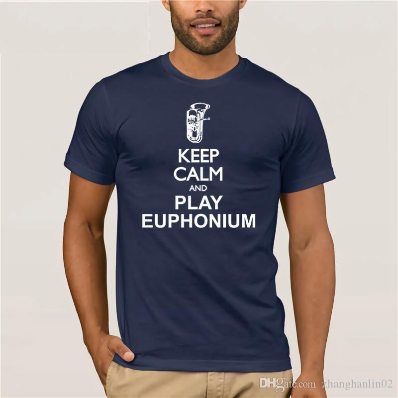 9f798639 Compre Idakoos Mantenha A Calma E Jogar Euphonium Silhouette Instrumentos T  Shirt Dress T Shirt De Zhanghanlin02, $14.21 | Pt.Dhgate.Com