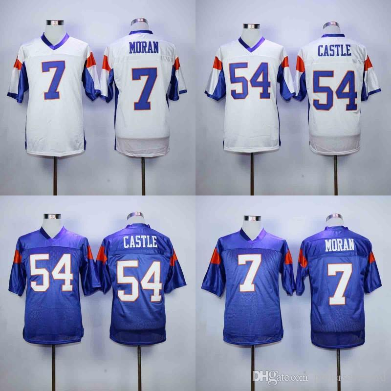 b8f442732 Mens Blue Mountain State Movie Jersey 54 Kevin Thad CASTLE 7 Alex MORAN  100% Stitched Football Jerseys Fast Shipping White Blue UK 2019 From  Projerseysword