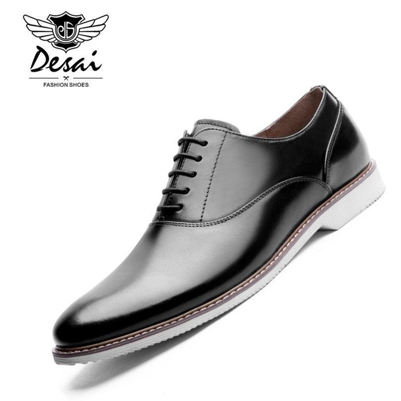 3e83b6065b2c02 Acquista DESAI Marca Italian Design Mens Dress Shoes Punta A Punta In Vera  Pelle Oxford Scarpe Da Uomo In Pelle Formale A $83.86 Dal Smart78 |  DHgate.Com