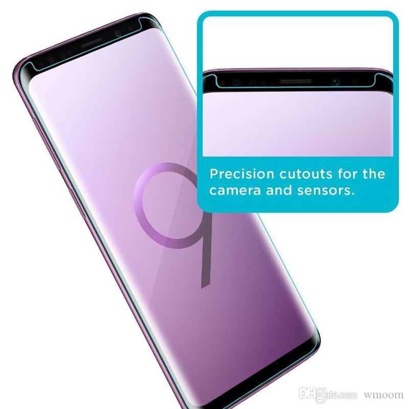 En iyi Kalite Durumda Dostu 3D Kavisli Crystal Clear Temperli Cam Ekran Koruyucu Samsung Galaxy S9 S8 Artı Not 8 9