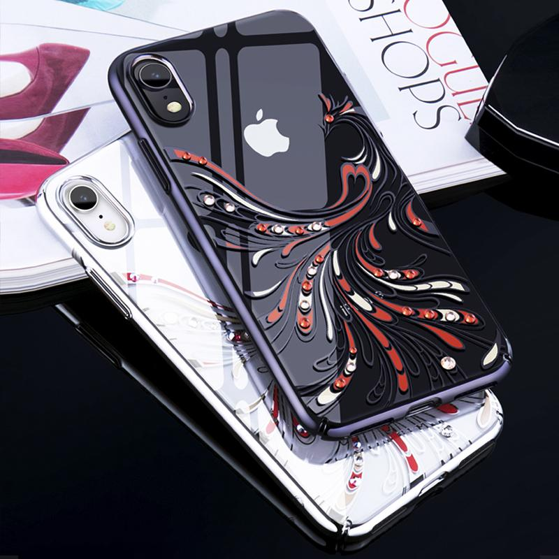 10556b6d5190c1 Wholesale Cover For IPhone XR Cover Luxury Case For IPhone XR Case Crystals  From Swarovski For Apple IPhoneXR Capa Electroplating Cell Phone Wallet  Cheap ...