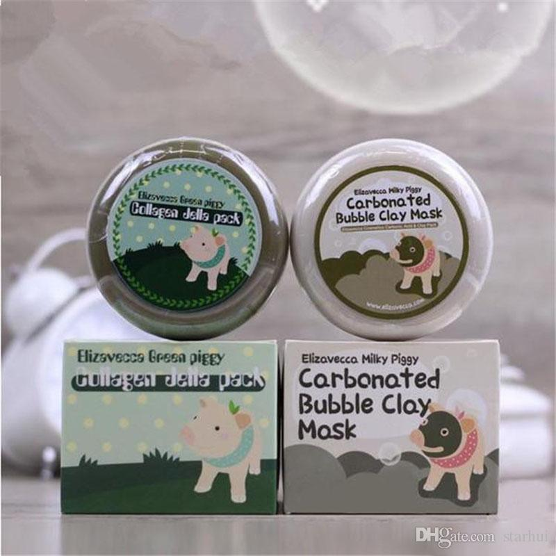 DHL SHip Carbonated Bubble Clay Mask Elizavecca Milky Piggy Moisturising Whitening Masks Elizavecca Clay Mask WX9-208