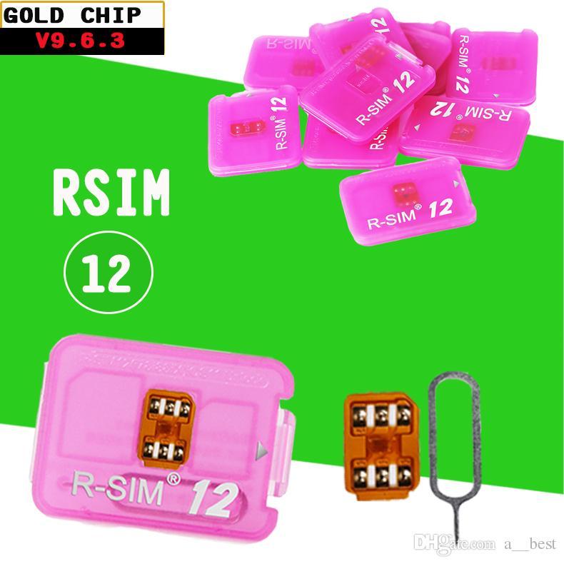 Original V9 6 4 RSIM12 R SIM 12 r-sim12 rsim 12 unlock for iPhoneX 8 7  6plus IOS11 3 CDMA GSM WCDMA SB AU SPRINT 4G