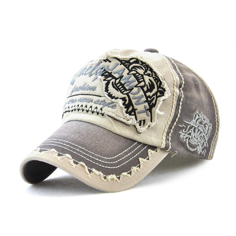 cb45bfd63d2 Retro Adjustable Cotton Baseball Cap For Women Men Tiger Embroidery Unisex  Outdoor Sport Casual Hats Dad Trucker Cap Neweracap Cap Hat From Shicool