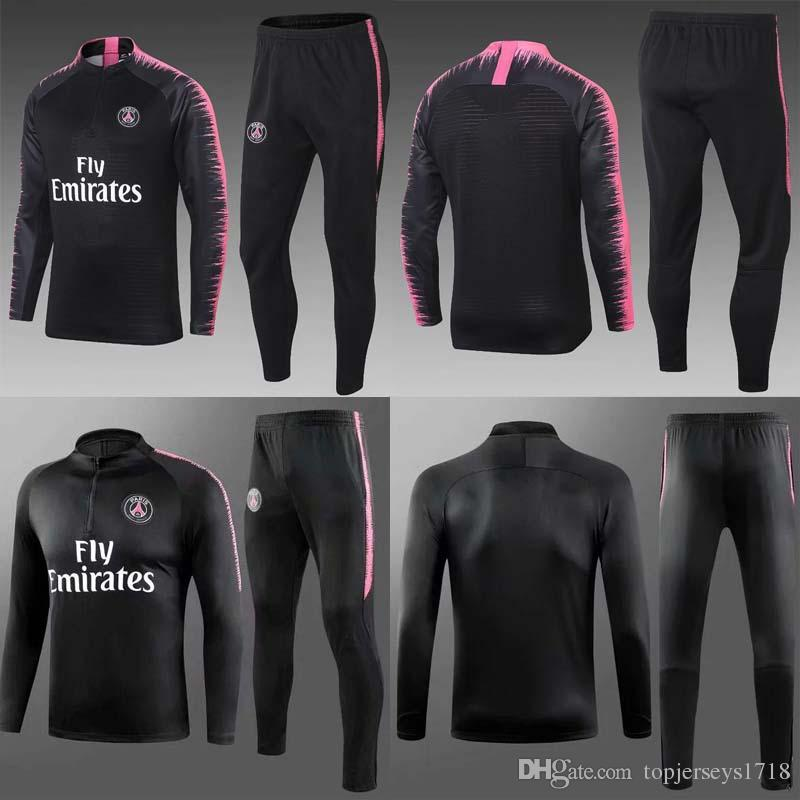 e6d10fd6d7f New Paris Saint Germain tracksuit 2018-2019 soccer jogging jacket MBAPPE  NEYMAR JR 18/19 PSG Football Training suit