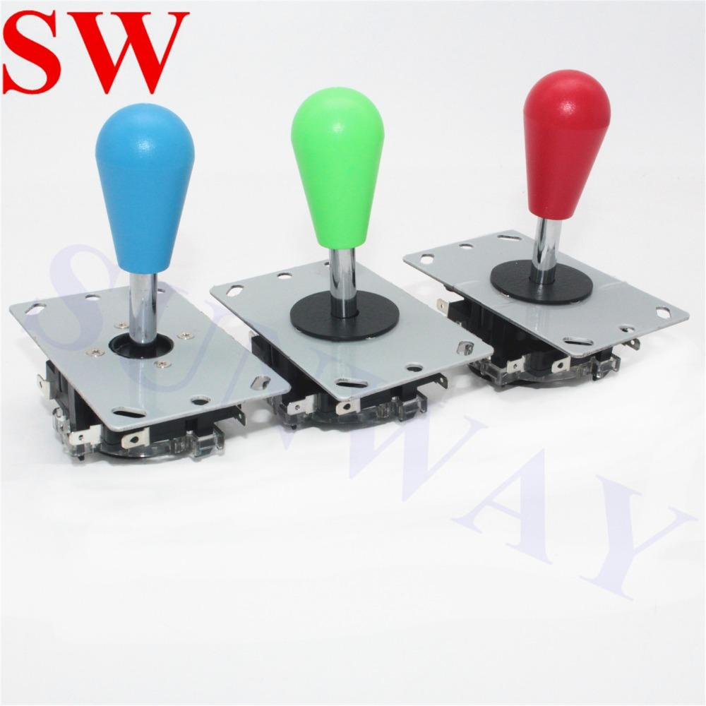 2Pcs Sanwa joystick Oval ball top Arcade Sanwa joystick with microswitch  4/8 Way Fighting Stick Parts for Game Arcade