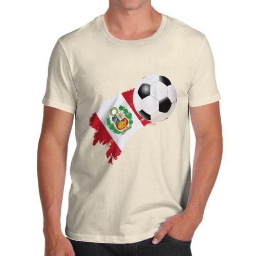 3e02423508aae Peru Football Soccer Flag Paint Splat Funny Tshirts For Men T Shirt Funny  Funny T Shirt Designs From Cyclingteeshirt
