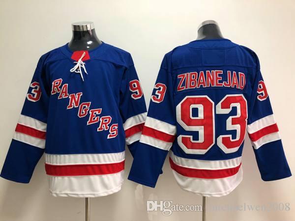 93 Mika Zibanejad Jersey 2018 New york Rangers 27 Ryan McDonagh 30 Henrik Lundqvist 36 Mats Zuccarello 61 Rick Nash Hockey Jerseys Cheap