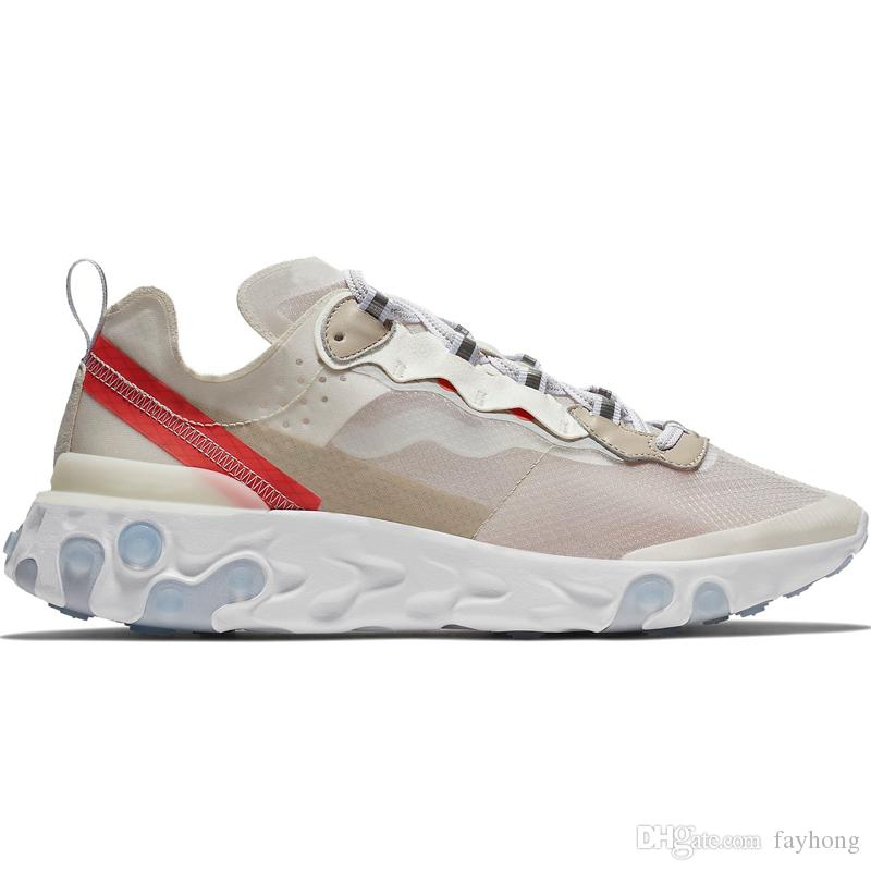 Epic React Element 87 Undercover Men Running Shoes For Women Diseñador Sneakers Sports Mens Trainer Shoes Sail Light Bone