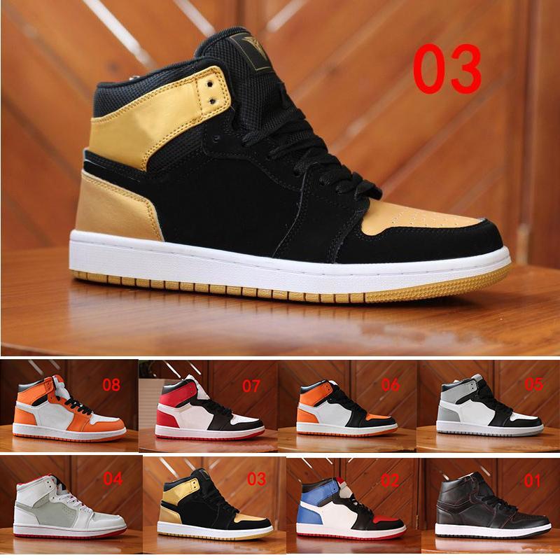 official photos 73cf7 8cc82 Acheter Nike Air Jordan 1 Retro Gros 2018 Derniers Arrivants Rouge Jaune  Noir Et Blanc Orange Hommes Casual Chaussures De Haute Qualité En Plein Air  Pour ...