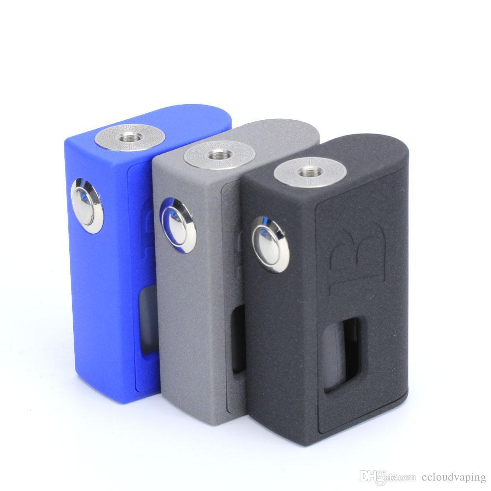 Neue Vape Mods BRAVO-BOX Vapour Mod 316SS Ecig Mod Kit ABS mit PC 3 Farben Fit Dual 18650 Batterie