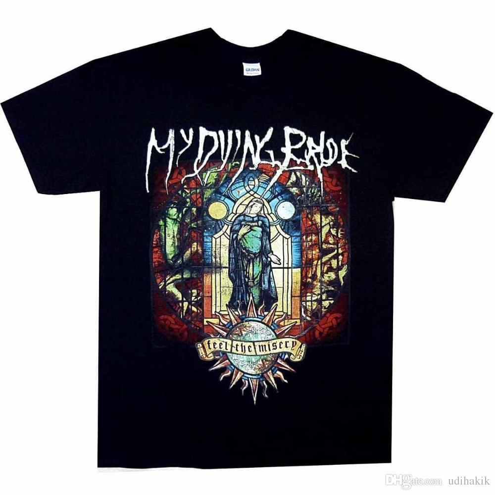 Fashion Funny Tops Tees My Dying Bride Feel The Misery Shirt S M L XL Official Tshirt Metal Band T-shirt Summer Casual Clothing