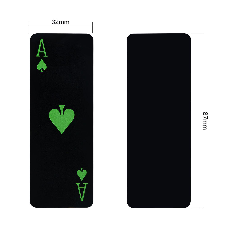 Noir Cartes De Jeu Imperméable À L'eau PVC Poker Nouveauté Rougeoyant Mini En Plastique Poker Cartes Jeu De Société Cadeau Durable