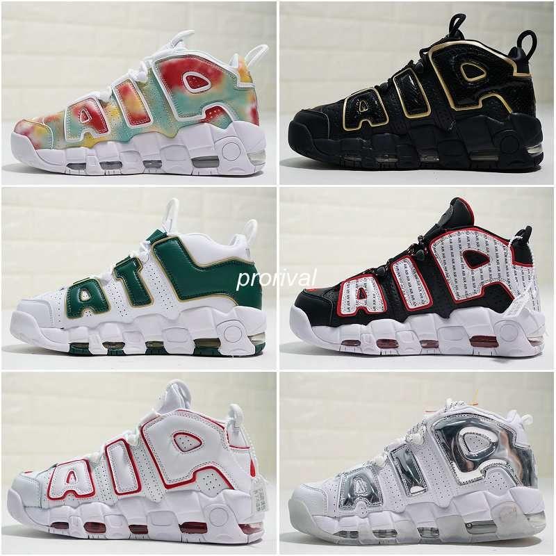 100% authentic f1e6b 671fb New Air More Uptempo OG QS 96 Pinstripe ATL Atlanta UK France Chicago  Chrome Mens Womens Basketball Shoes 3M Scottie Pippen Sports Sneakers Sport  Shoes Mens ...