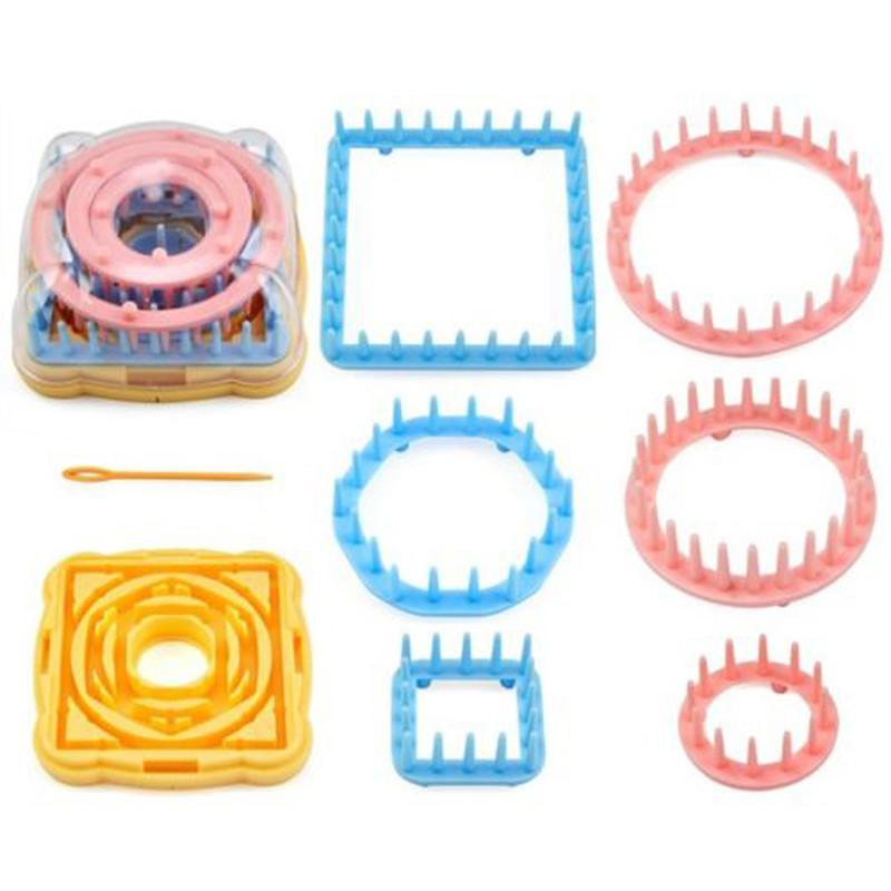 9PCS Flower Knitting Loom Knit Daisy Pattern Maker Wool Yarn Needle Home  Craft Needlework Knit Hobby Sewing Tools Accessories