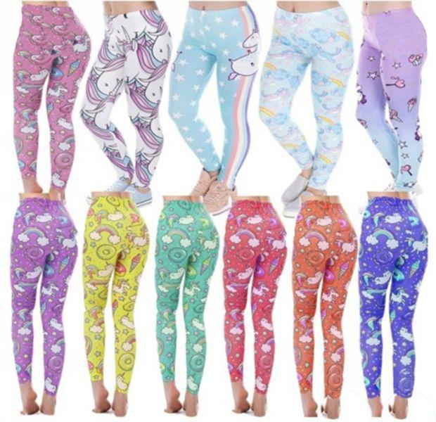 e16eae6d322 2019 Women S Fashion Sexy Unicorn Print Leggings Women Casual Yoga Pants  Fitness Gym Girls Cute Fantasy Trousers From Greatamy
