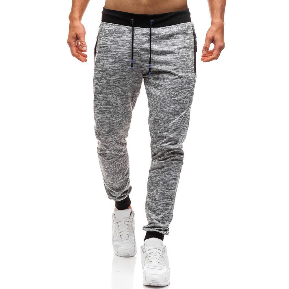 Compre Pantalones De Chándal De Marca Pantalones De Hombre Joggers Ropa De  Hombre 2018 Hip Hop Joggers De Otoño Patchwork Pantalones De Chándal Con  Cordón ... 88bb185aec8