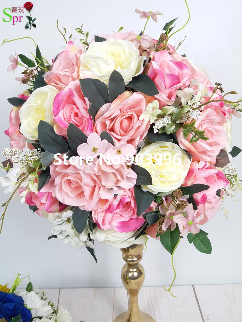 Wholesale 2018 Table Centerpiece Flower Ball Artificial Rose Wedding ...