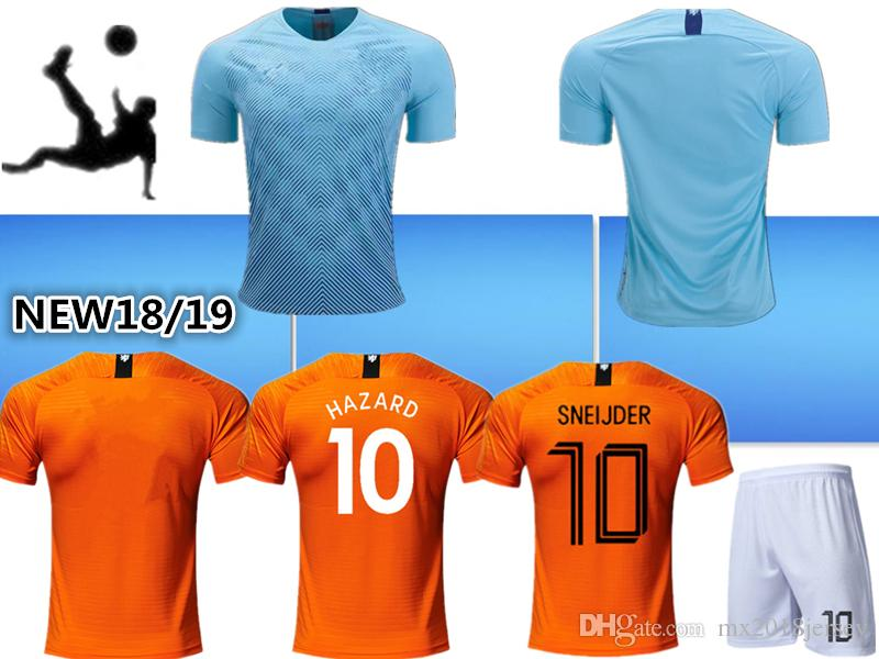 2019 NWE 2018 19 NED Soccer Jersey Home Orange 2019 NL National Team JERSEY  Memphis SNEIJDER V.Persie Dutch Football Shirts Adult Kids Kits From ... 7456a9285