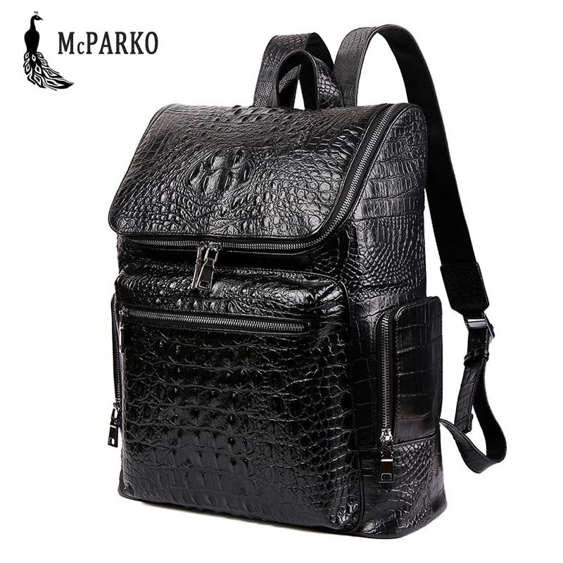 Luxury Genuine Leather Backpack Men Cow Leather Laptop Backpack Crocodile  Pattern Design Elegant England Style Bagpack For Men Kelty Backpack Camo  Backpack ... 4ec371eb7b841