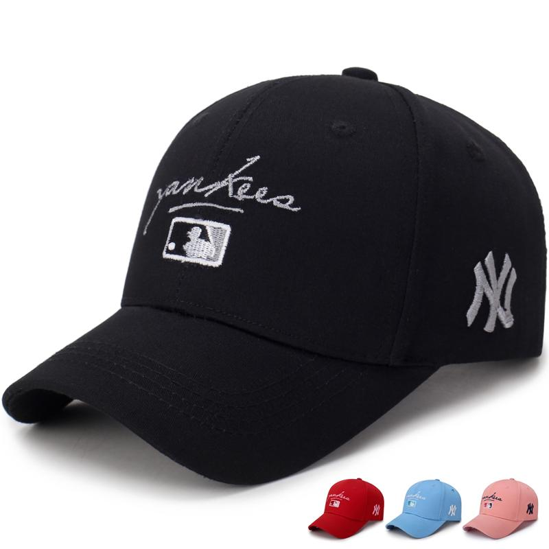 Unisex Cotton Baseball Cap NY Men Women Snapback Cool Sun Hat Letter  Adjustable Casquette Bone Cap Male Sport Bone Gorras Fitted Caps Black Baseball  Cap ... e1367762edbb