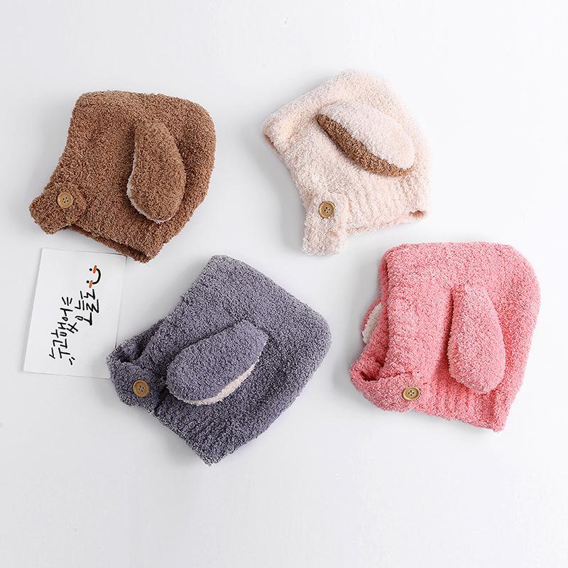 fb7c01555d8d 2019 2019 Winter New Baby Caps Children S Warm Plush Hat Cartoon ...