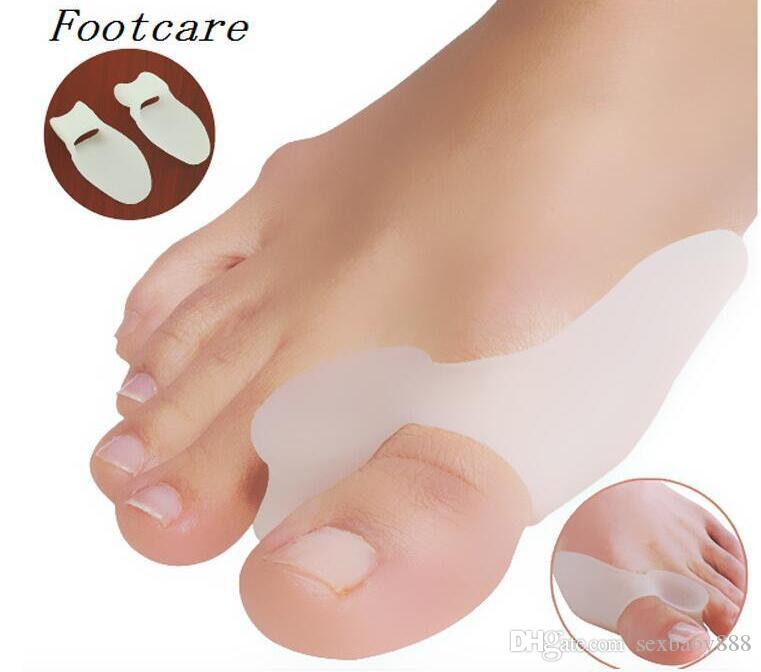 2Pcs/lot Soft Silicone Gel Toe Separators Straightener Bunion Protector Pain Relief Cushion Pad Foot Care Hallux Valgus Correction