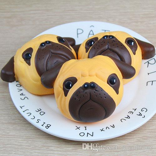 Mobile Phone Accessories Reasonable Antistress Ball Pug Dog Facesquishy Phone Straps Slow Rising Soft Squeeze Kawaii Bread Cake Antistress Kids Toy Phone Decor Convenience Goods