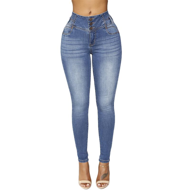 ae34d267cd87 Großhandel Neue Ankunft Frau Denim Bleistift Hosen Skinny Jeans Top Marke  Stretch Jeans Hohe Taille Hosen Frauen Plus Größe Reißverschluss Femme Von  ...