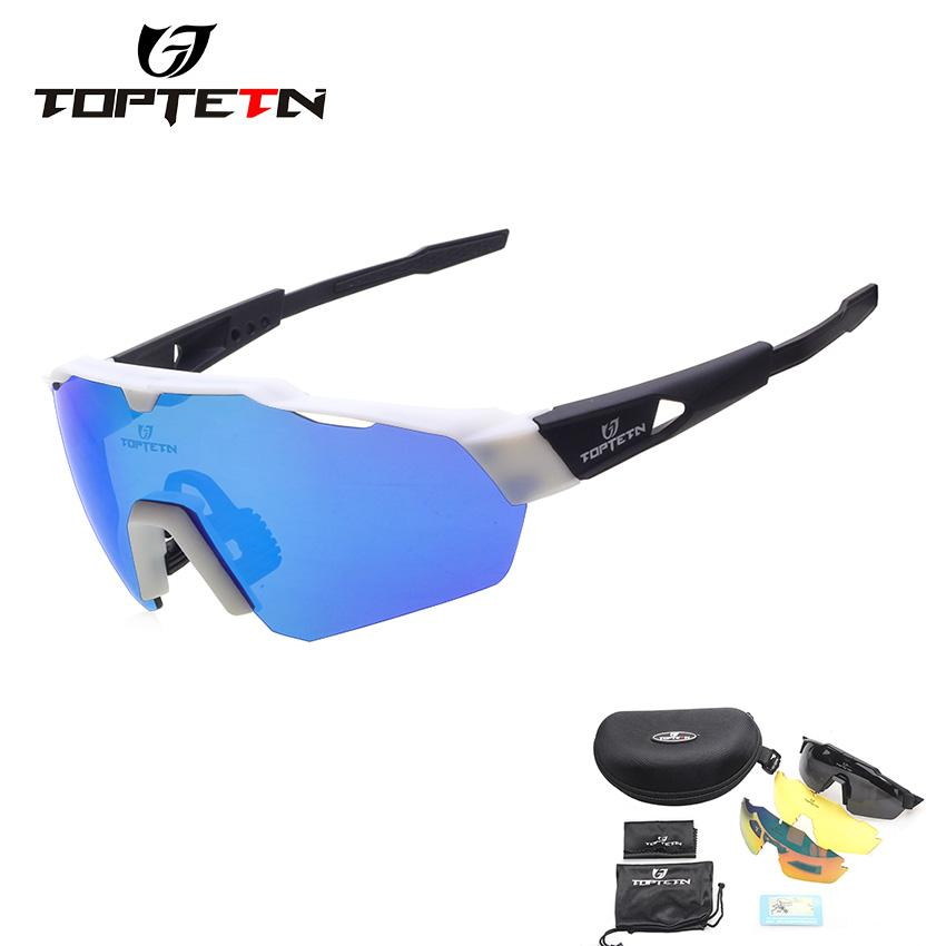 704efbf97e 3 Lens 2018 Brand Design Cycling Glasses Eyewear TR90 Polarzied Men ...