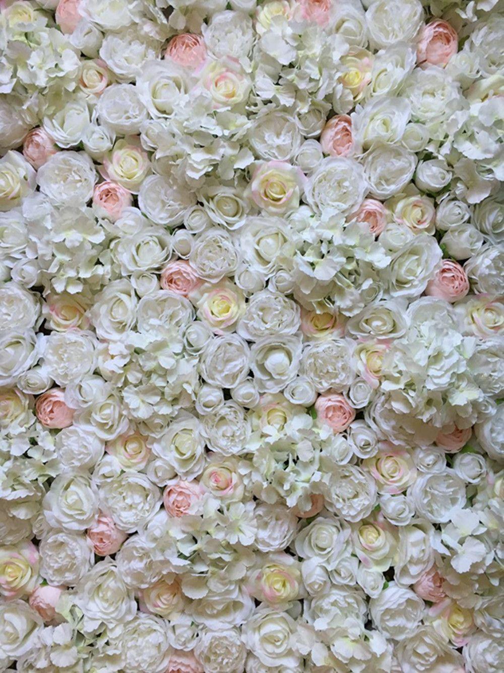 Nouvelle usine de rayonne rose décoration murale hortensia pour mur de fond de mariage