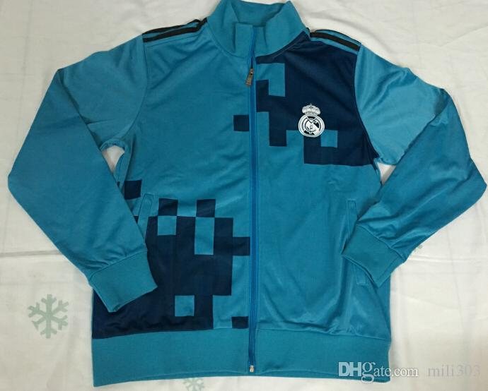 online store 82835 f9d09 Top quality 17 18 Real Madrid soccer jacket tracksuit 2017 2018 RONALDO  BALE MODERIC Real Madrid long sleeve ISCO Jogging jacket Chandal