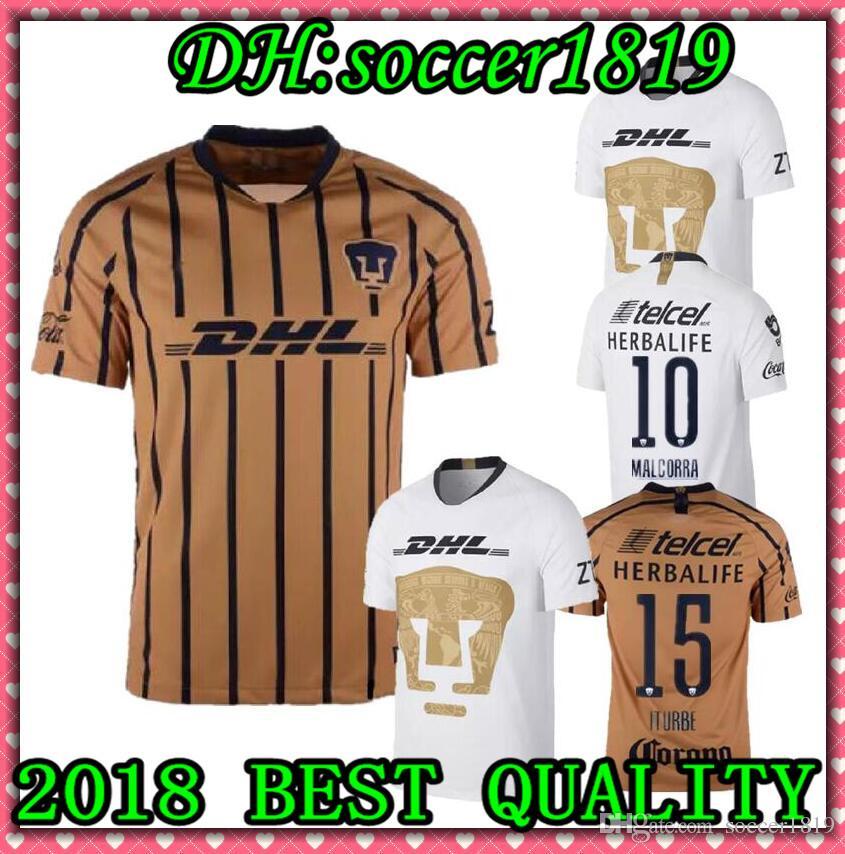2019 2018 UNAM Pumasi Home Soccer JerseyS Away Blue Mexico Camisetas De  Futbol Cougar 18 19 Cortes Martinez Football Camisetas Shirt Kit Maillot  From ... 07d4d35e2