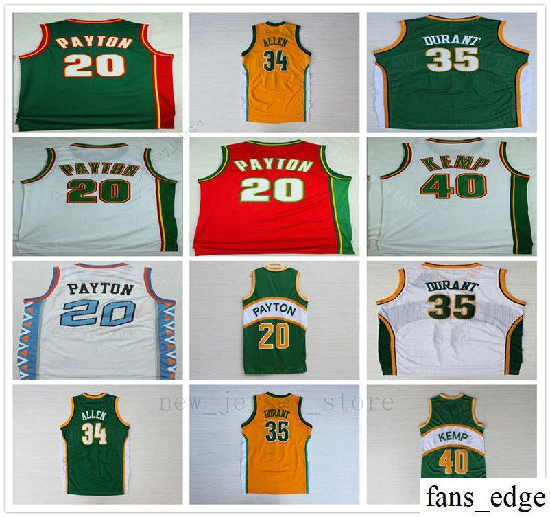 finest selection 001c5 e7291 NCAA College Retro Mens #20 Gary Payton Jersey Stitched Seattle Super  Sonics Cheap 40 Shaw Kemp Basketabll Jerseys Free Shipping