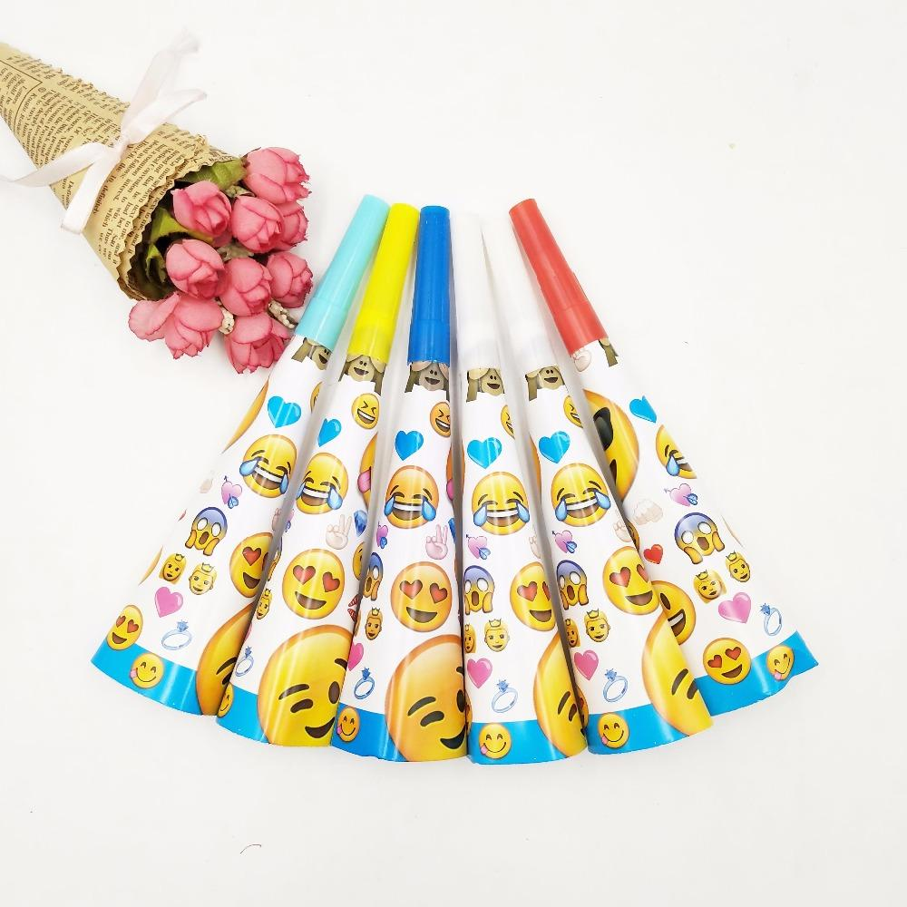 Bag Cartoon Horn Emoji Expression Wedding Decorations For Birthday Party Items Children Like Disposable Supplies Whistle Whistles From