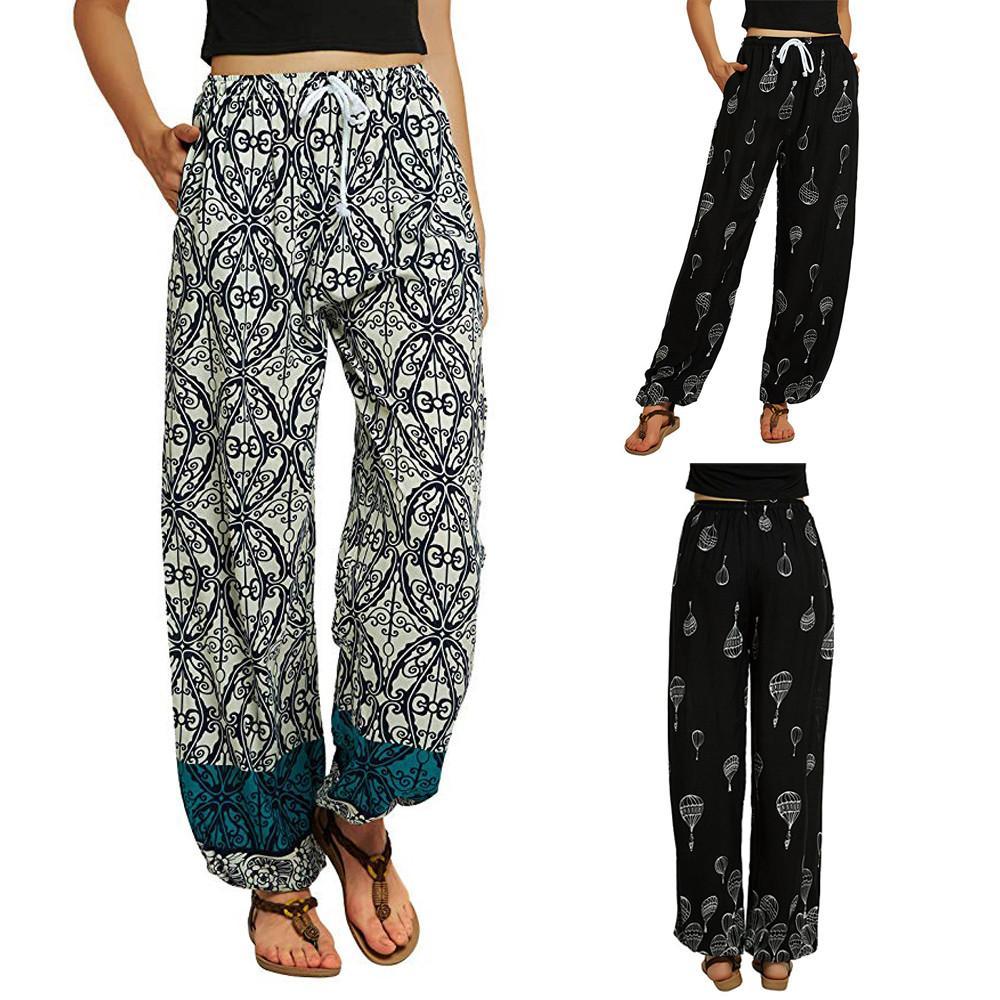 0d39c7f26c1 2019 Women Yoga Pants Women Plus Size Yoga Leggings Floral Print Bloomers  Dance Womens Sportswear Gym Gym Leggings Colorvalue From Cumax