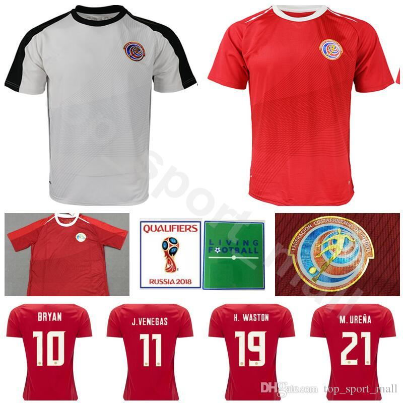 fbb59ebe09a 2019 Men Soccer Costa Rica Jersey 2018 World Cup Goalkeeper 1 Keylor Navas  10 RUIZ 5 BORGES Football Shirt Kit 12 CAMPBELL 11 VENEGAS Red White From  ...